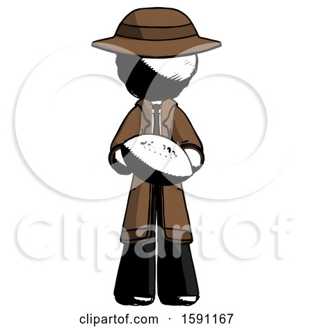 Ink Detective Man Giving Football to You by Leo Blanchette