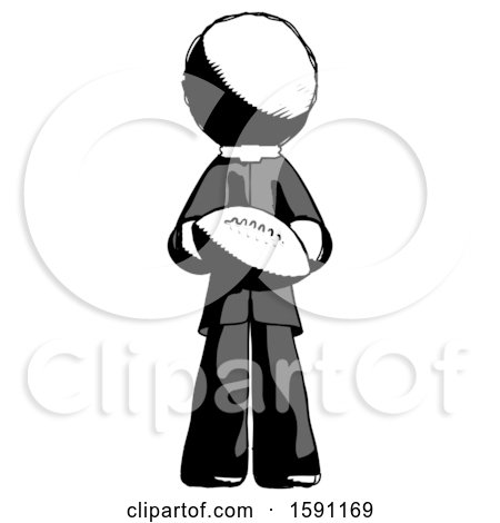 Ink Clergy Man Giving Football to You by Leo Blanchette