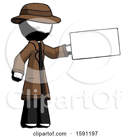 Ink Detective Man Holding Large Envelope by Leo Blanchette
