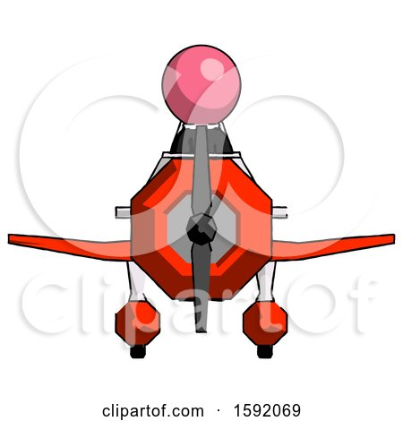 Pink Clergy Man in Geebee Stunt Plane Front View by Leo Blanchette