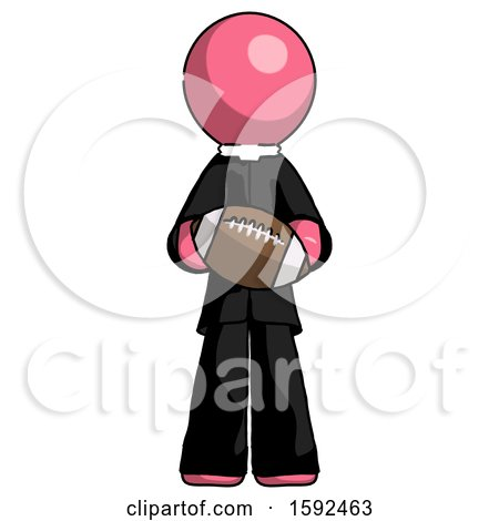 Pink Clergy Man Giving Football to You by Leo Blanchette