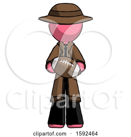 Pink Detective Man Giving Football to You by Leo Blanchette