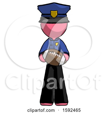 Pink Police Man Giving Football to You by Leo Blanchette