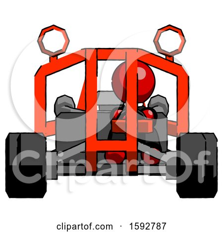 Red Clergy Man Riding Sports Buggy Front View by Leo Blanchette