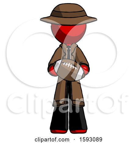Red Detective Man Giving Football to You by Leo Blanchette