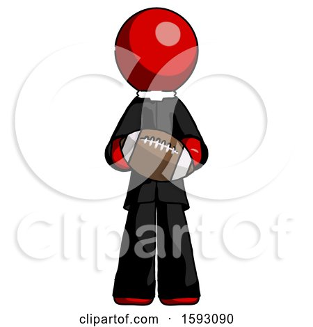 Red Clergy Man Giving Football to You by Leo Blanchette