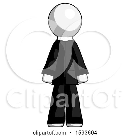 White Clergy Man Standing Facing Forward by Leo Blanchette