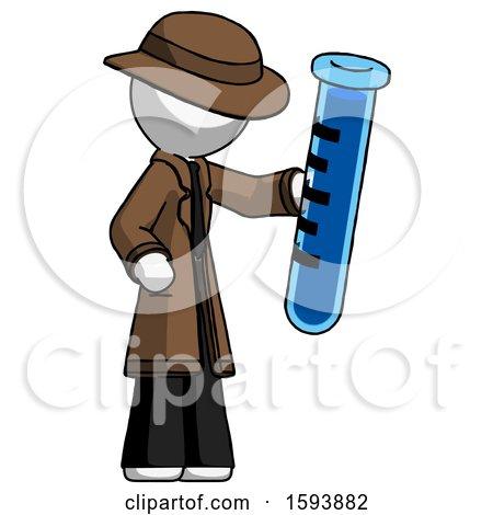 White Detective Man Holding Large Test Tube by Leo Blanchette