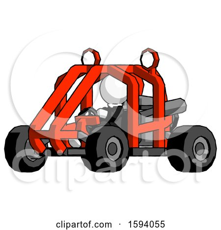 White Clergy Man Riding Sports Buggy Side Angle View by Leo Blanchette