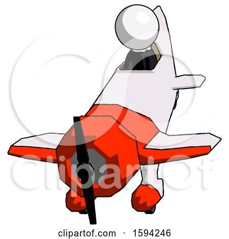 White Clergy Man in Geebee Stunt Plane Descending Front Angle View by Leo Blanchette