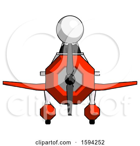 White Clergy Man in Geebee Stunt Plane Front View by Leo Blanchette