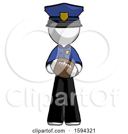White Police Man Giving Football to You by Leo Blanchette