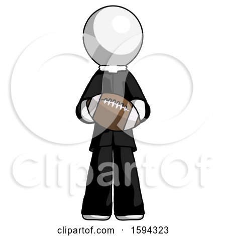 White Clergy Man Giving Football to You by Leo Blanchette