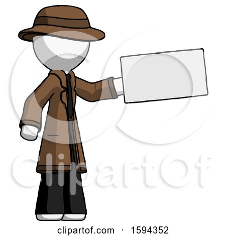 White Detective Man Holding Large Envelope by Leo Blanchette