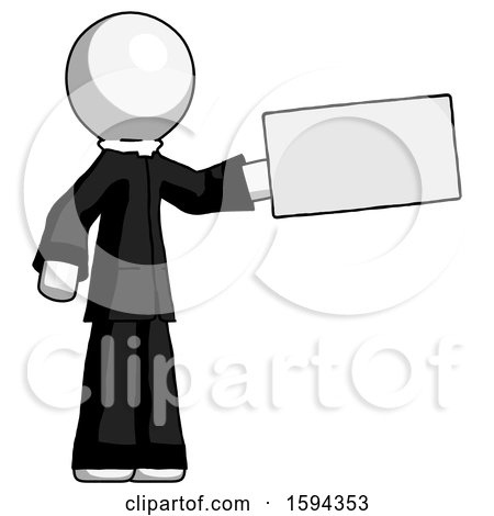 White Clergy Man Holding Large Envelope by Leo Blanchette
