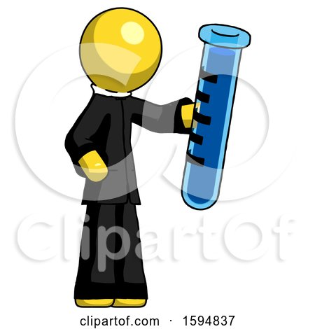 Yellow Clergy Man Holding Large Test Tube by Leo Blanchette