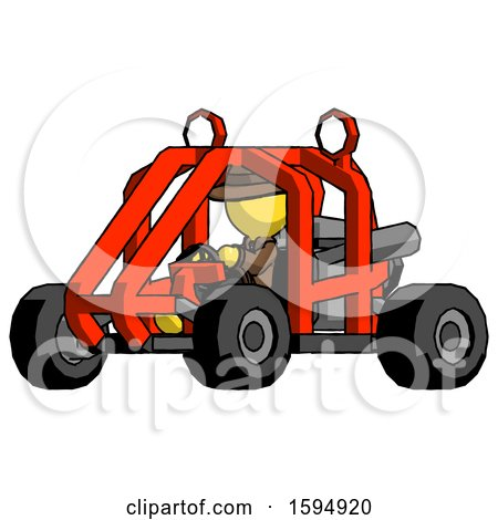 Yellow Detective Man Riding Sports Buggy Side Angle View by Leo Blanchette