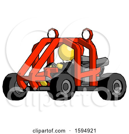Yellow Clergy Man Riding Sports Buggy Side Angle View by Leo Blanchette