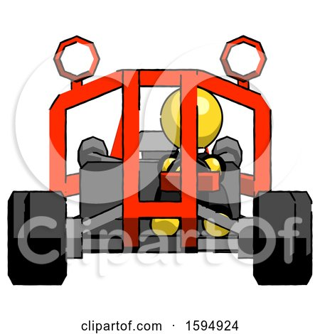 Yellow Clergy Man Riding Sports Buggy Front View by Leo Blanchette