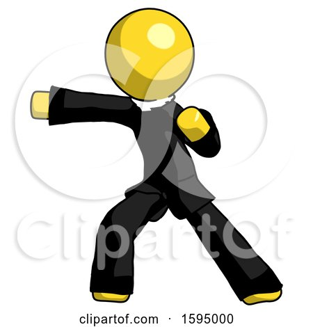 Yellow Clergy Man Martial Arts Punch Left by Leo Blanchette