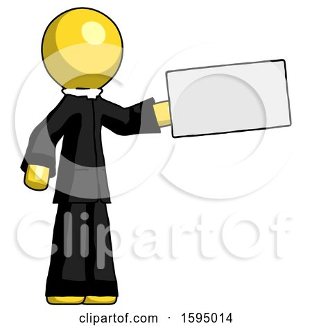 Yellow Clergy Man Holding Large Envelope by Leo Blanchette