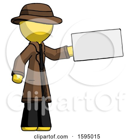 Yellow Detective Man Holding Large Envelope by Leo Blanchette