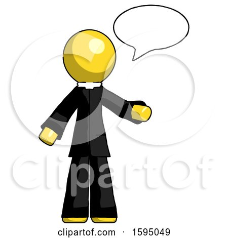 Yellow Clergy Man with Word Bubble Talking Chat Icon by Leo Blanchette
