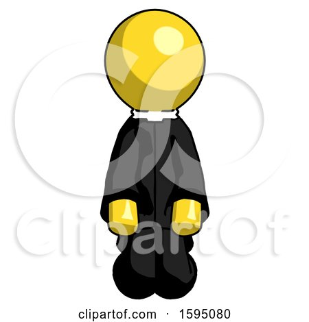 Yellow Clergy Man Kneeling Front Pose by Leo Blanchette