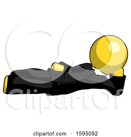 Yellow Clergy Man Reclined on Side by Leo Blanchette