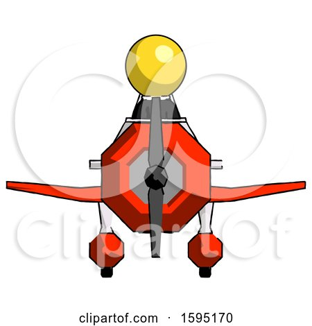 Yellow Clergy Man in Geebee Stunt Plane Front View by Leo Blanchette