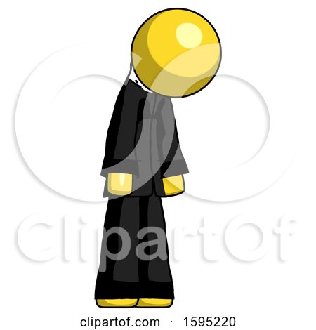 Yellow Clergy Man Depressed with Head down Turned Right by Leo Blanchette