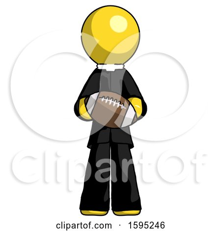 Yellow Clergy Man Giving Football to You by Leo Blanchette