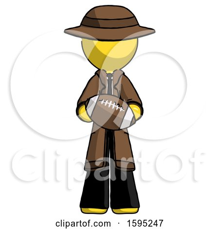Yellow Detective Man Giving Football to You by Leo Blanchette