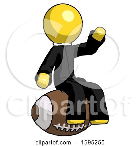 Yellow Clergy Man Sitting on Giant Football by Leo Blanchette