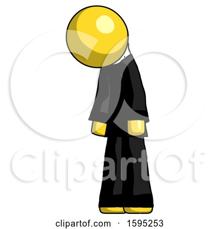 Yellow Clergy Man Depressed with Head down Turned Left by Leo Blanchette