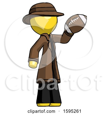 Yellow Detective Man Holding Football up by Leo Blanchette