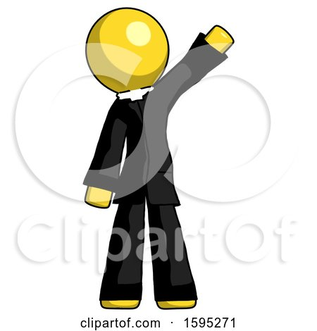 Yellow Clergy Man Waving Emphatically with Left Arm by Leo Blanchette