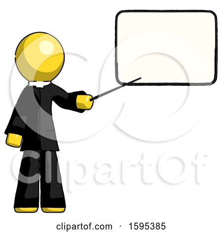 Yellow Clergy Man Giving Presentation in Front of Dry-erase Board by Leo Blanchette
