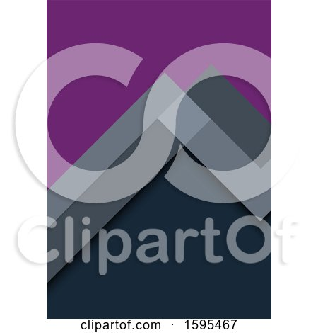 Clipart of a Geometric Purple and Gray Background - Royalty Free Vector Illustration by dero