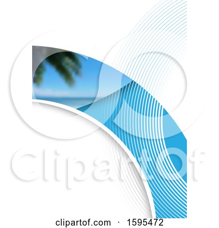 Clipart of a Tropical Travel Background - Royalty Free Vector Illustration by dero