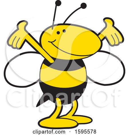 Clipart of a Yellow Jacket School Mascot - Royalty Free Vector Illustration by Johnny Sajem
