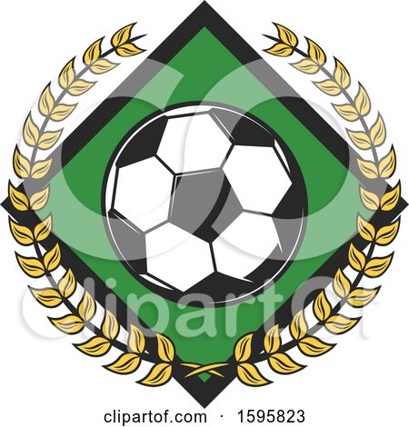 Clipart of a Soccer Design - Royalty Free Vector Illustration by Vector Tradition SM
