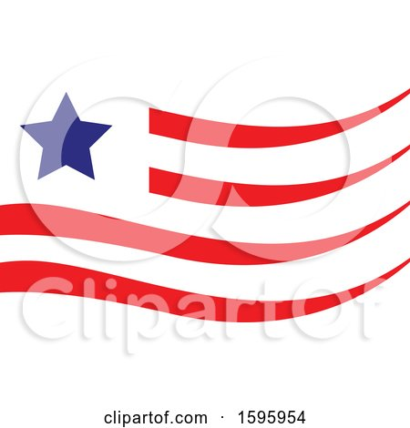 Clipart of a Usa Flag Design - Royalty Free Vector Illustration by Vector Tradition SM