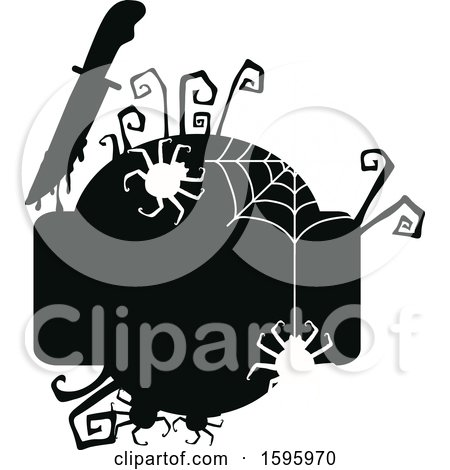 Clipart of a Silhouetted Halloween Design - Royalty Free Vector Illustration by Vector Tradition SM