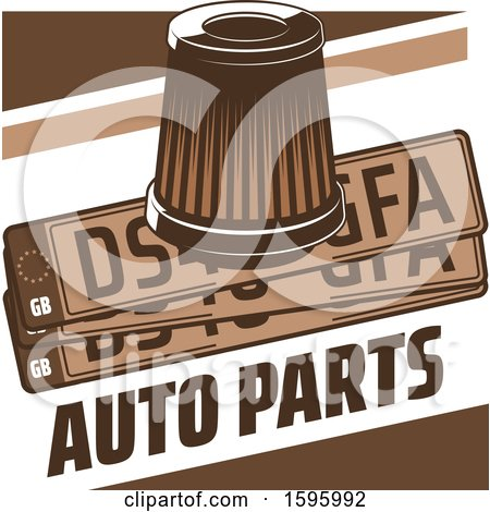 Clipart of a Brown Automotive Design - Royalty Free Vector Illustration by Vector Tradition SM