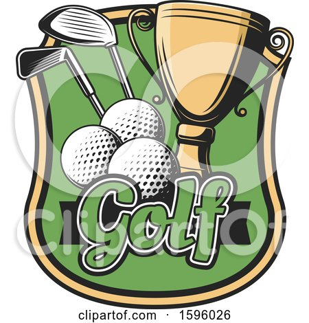 Clipart of a Sports Golf Design - Royalty Free Vector Illustration by Vector Tradition SM