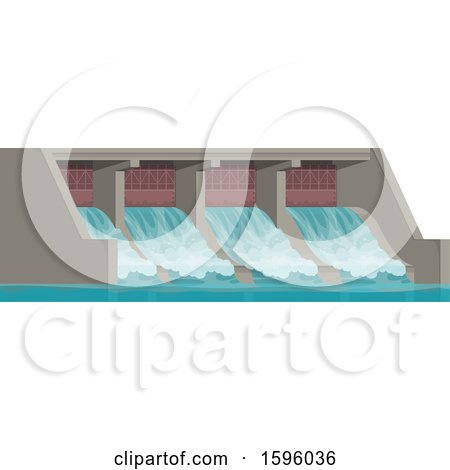 Clipart of a Dam - Royalty Free Vector Illustration by Vector Tradition SM