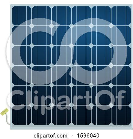 Clipart of a Solar Panel - Royalty Free Vector Illustration by Vector Tradition SM