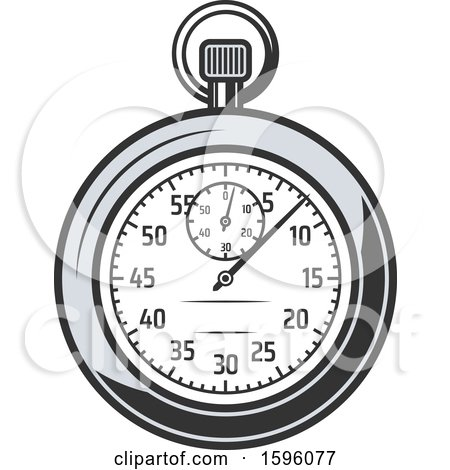 Clipart of a Sports Stopwatch - Royalty Free Vector Illustration by Vector Tradition SM