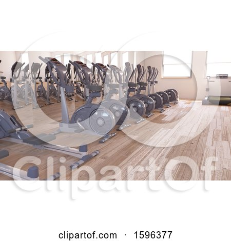 Clipart of a d gym room interior royalty free illustration by
